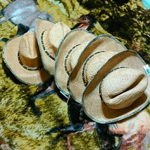 Other - Nwt camp cowboy straw hats!!